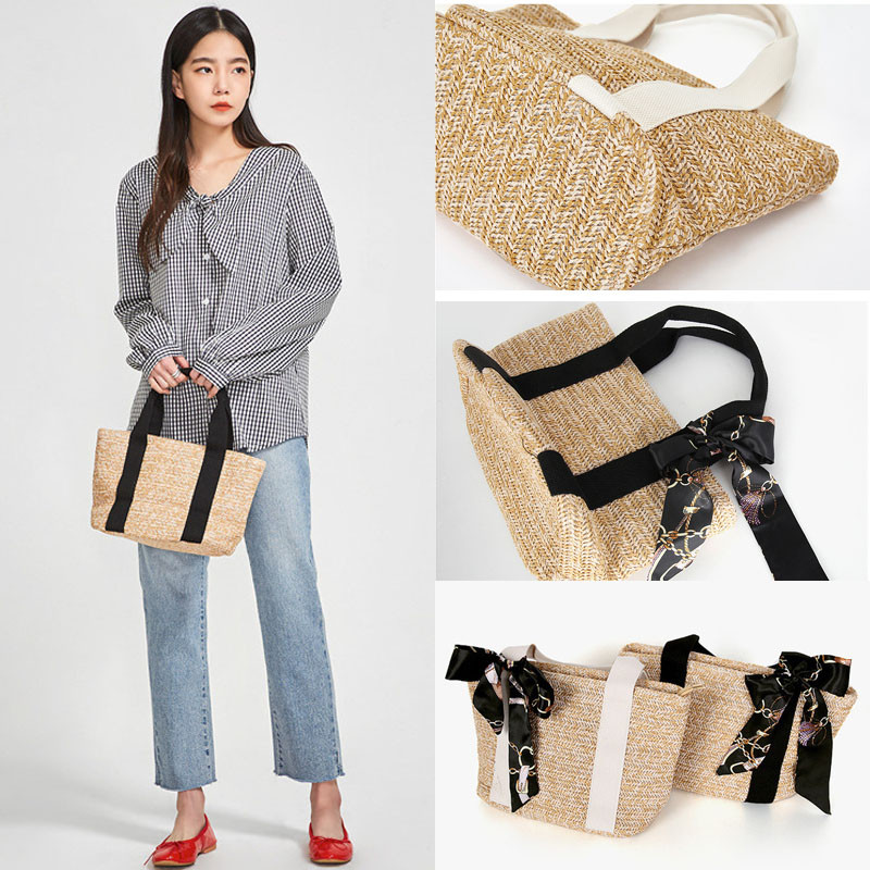 Contracted-Bags-Rattan-Basket-Shoulder-Bag Outfits and desire commendable looks in Summer 2019.   %Post Title, %Image Name
