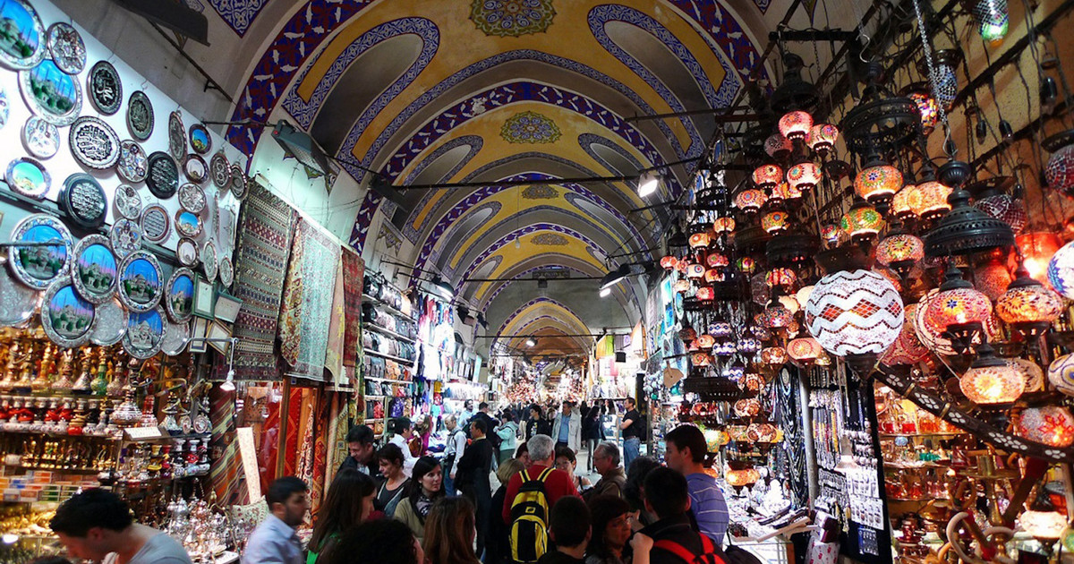 Grand-Bazaar Special business style at the 500 year old ancient market in Turkey