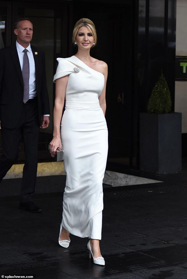Ivanka Trump looked stunning as she headed to a dinner  President Trump's wife and daughter wore high class during his visit to England.