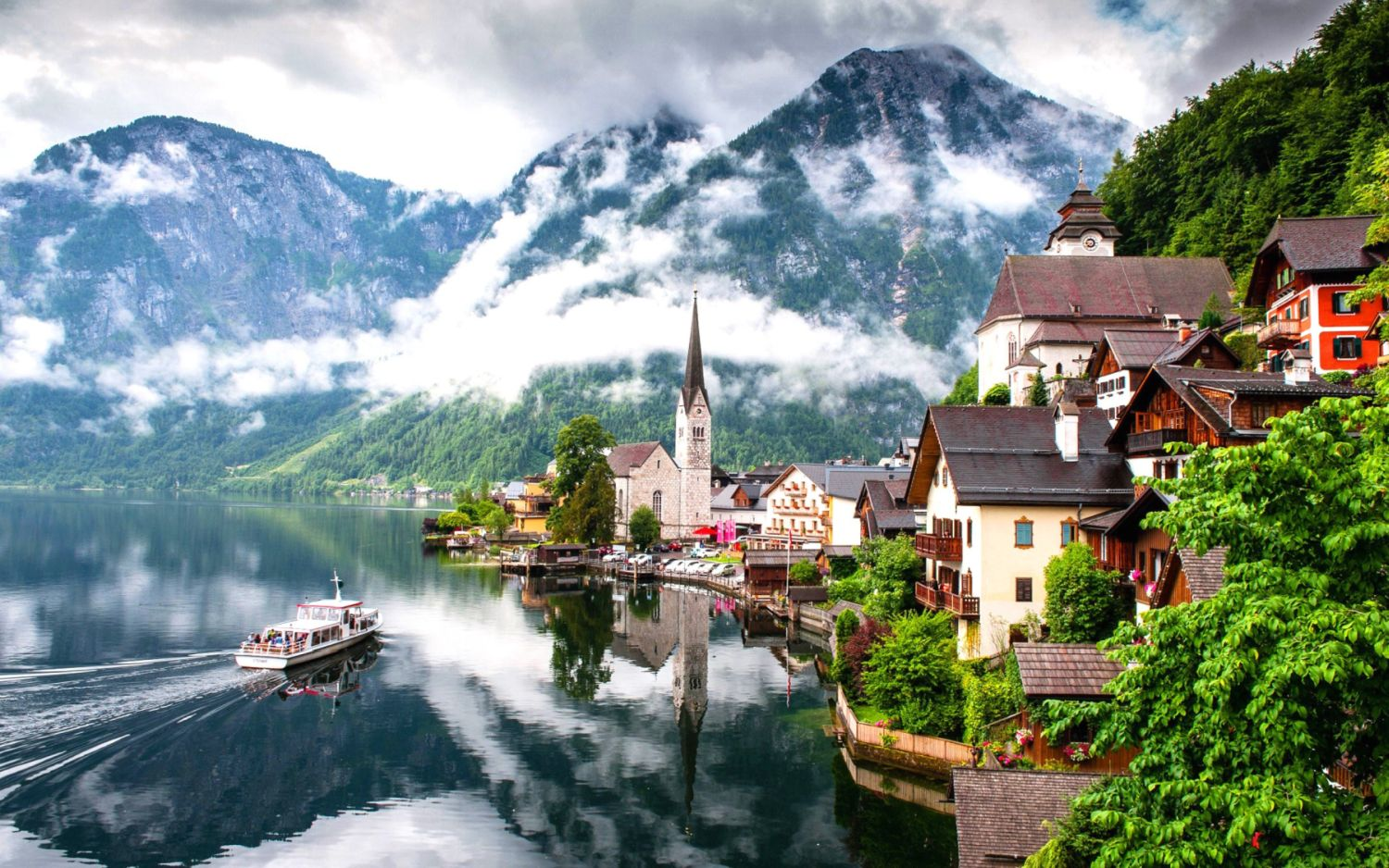 Lake-Hallstatt Top 10 most beautiful waterfalls on the planet.