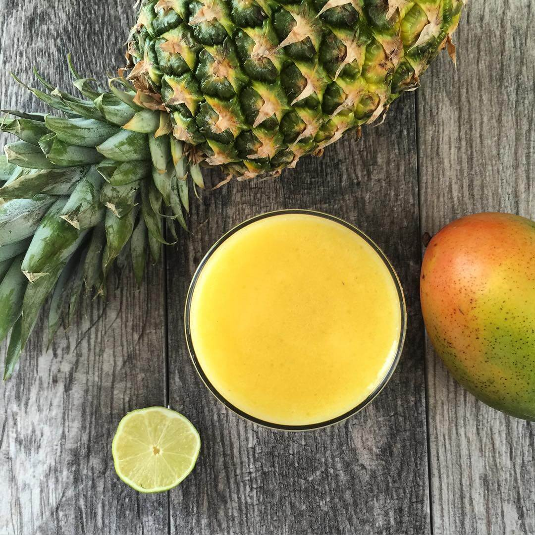 Mango-and-Pineapple Antioxidant rich fruit juices help prevent cancer.  %Post Title, %Image Name