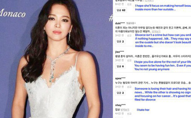 "Song-Hye-Kyo-Netizen Song Hye Kyo was ""terrorized"" after her bold style changes."