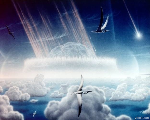 clip_image008-2 Dinosaurs extinct by the collision has the power of 10 billion atomic bombs.
